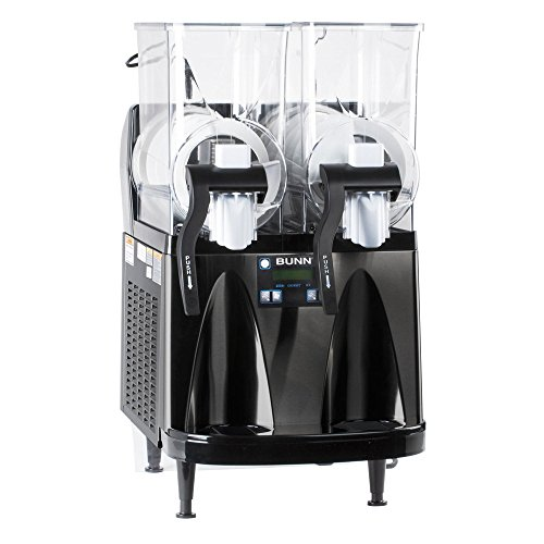 Bunn Ultra-2 HP Slushy / Granita Frozen Drink Machine with 2 Hoppers and Flat Lid - Black 120V (Bunn 34000.0013) (Tops Table Granite Restaurant)