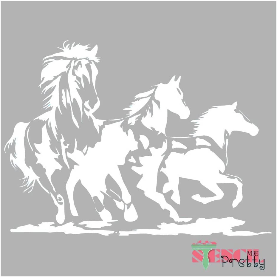 Wild Mustang Horse Stencil - DIY Bronco Best Vinyl Large Stencils for Painting on Wood, Canvas, Wall, etc.-XS (11