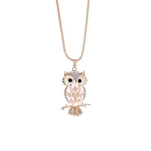 Roberto Coin 18k Diamond Pavé Owl Pendant Necklace LMNzK1bDE2
