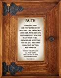 Down Home Collection Rustic Oak Wood Picture Frame, 9 Inch (Faith - Proverbs 3:5)