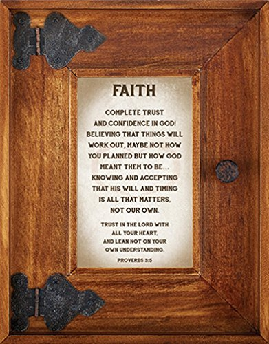 Down Home Collection Rustic Oak Wood Picture Frame, 9 Inch (Faith - Proverbs 3:5) by Down Home Collection