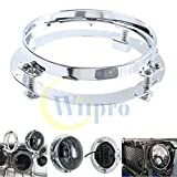 Silver 7 Inch LED Headlights Extension Ring Round Mounting Bracket for Jeep Wrangler Harley Davidson Motorcycles Headlamps