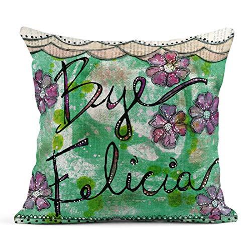 Tarolo Linen Throw Pillow Cover Case Bye Felicia Decorative Pillow Cases Covers Home Decor Square 18 x 18 Inches Pillowcases
