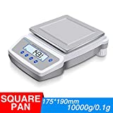Hochoice Accuracy 0.1g Precision Laboratory Electronic Analytical Balance,for Industrial, Agricultural, Scientific Research(Square pan) (Max Capacity:10000g, Accuracy:0.1g)