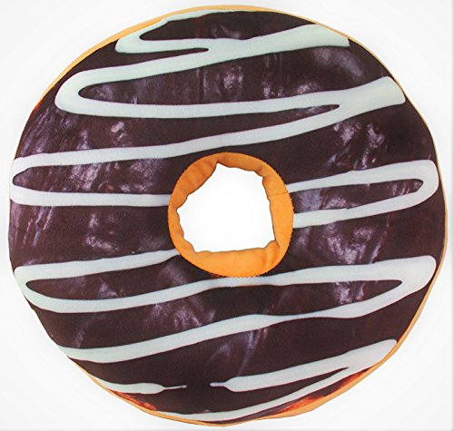 3D Milk Chocolate Donut Pillow Soft Bolster Sofa Cushion Chair Seat Pad Stuffed Plush Toy Home Decor USA Seller