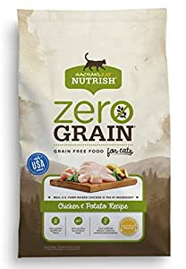 Rachael Ray Nutrish Zero Grain Natural Dry Cat Food, Chicken & Potato Recipe, Grain Free, 6 lbs