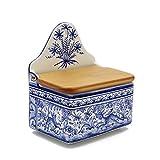 Madeira House Coimbra Ceramics Hand-Painted Decorative Salt Holder XVII Cent Recreation #137-9