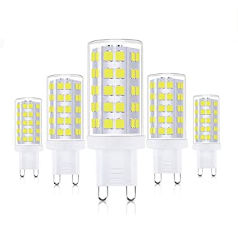 Bombillas LED G9, WXY 5W / 400LM Equivalentes a Lámparas halógenas de 40W, 63