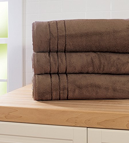 Cariloha - Crazy Soft Bamboo Bath Sheets - Odor Resistant - Highly Absorbent (Almond Truffle)