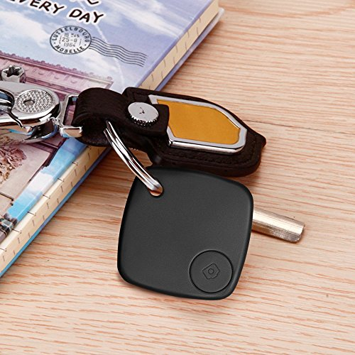 Illumifun Wireless Key Finder - Bluetooth Smart Key Tracker, Remote Control Item Finder Anti-Lost Alarm Sensor Wallet Phone Luggage Pet Locator with Android& IOS APP (Black)