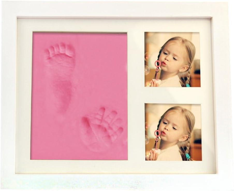 und Fu/ß-Abdr/ücke Kit BLAU Babyset mit Bilderrahmen Fu/ßabdruck Handabdruck Baby Fotorahmen Hand