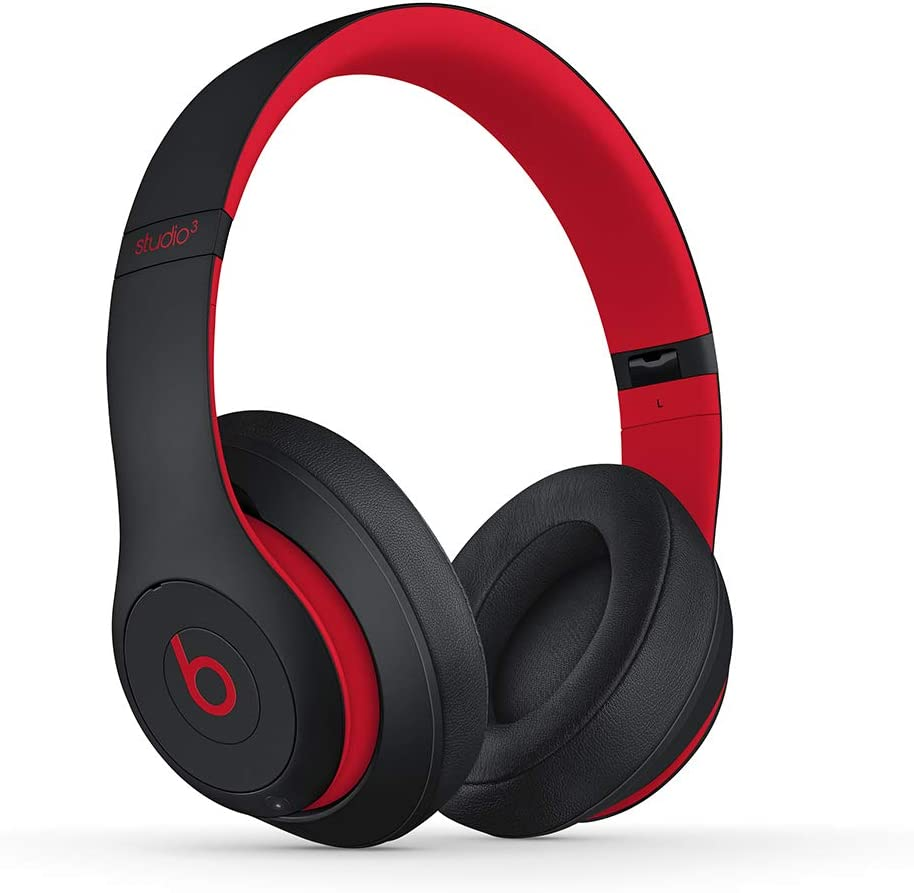 Beats Studio3 Wireless Over-Ear Headphones - The Beats Decade Collection - Defiant Black-Red (Latest Model)