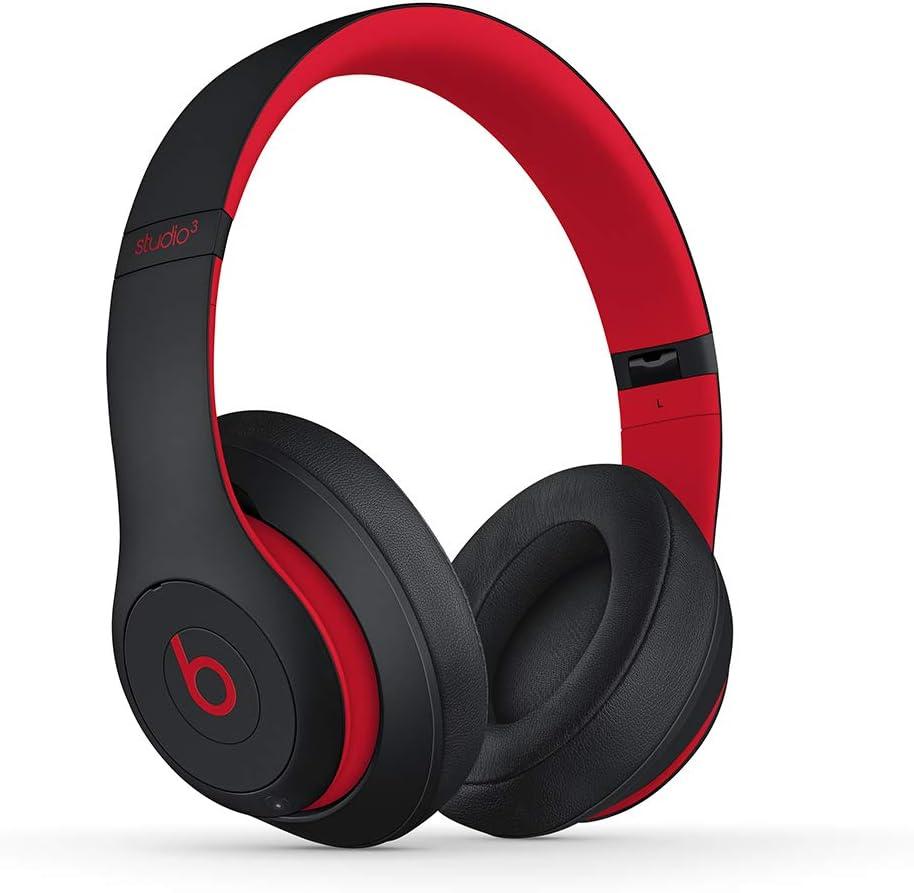 Beats Studio3 Wireless con cancelación de ruido - Auriculares supraaurales - Chip Apple W1, Bluetooth de Clase 1, cancelación activa del ruido, 22 horas de sonido ininterrumpido - Rojo y negro: Apple: Amazon.es