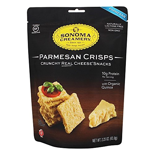 SONOMA CREAMERY, Cracker, Parmesan Crisp, Pack of 12, Size 2.25 OZ, (Gluten Free Wheat Free Yeast Free)