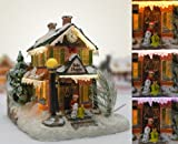 Christmas Snow Village Bakery Fiber Optic LED Collectible House