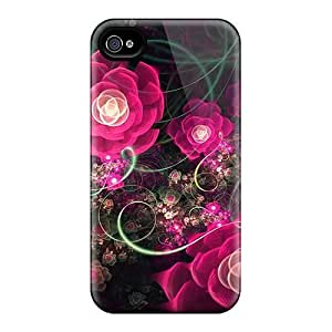 High-end Case Cover Protector For Iphone 4/4s(fractal Roses) hjbrhga1544