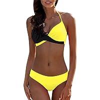Traje de Baño Bikini Mujer 2020 Bikinis Sujetador Push-up Sexy Traje de Baño de Dos Piezas Bohemio BañAdores Tops y…