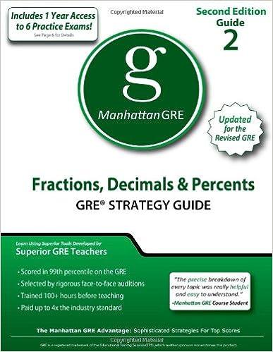 Fractions, Decimals & Percents, 2nd Edition (Manhattan GRE ...