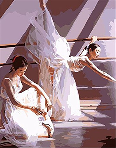 New Ballet Dancer Paint by Number Kits - 16 by 20 inch Frameless - PBN Kit