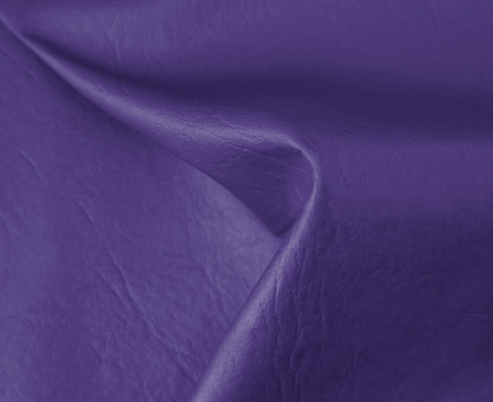 1 Metro de Polipiel para tapizar, Manualidades, Cojines o forrar Objetos. Venta de Polipiel por Metros. Diseño Sugan Color Violeta Ancho 140cm
