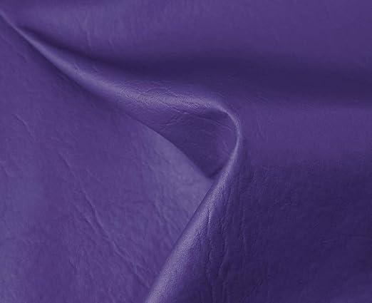 0,50 Metros de Polipiel para tapizar, Manualidades, Cojines o forrar Objetos. Venta de Polipiel por Metros. Diseño Sugan Color Violeta Ancho 140cm