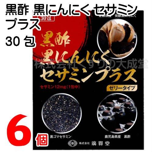 黒酢黒にんにくセサミンプラス 15g 30包 6個 ゼリータイプ B07F1SXVKL