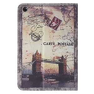 conseguir Sello retro de London Bridge Patrón Funda de cuero protectora para el iPad Mini