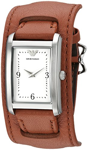 Emporio Armani Women's AR7439 Fashion Brown Leather Quartz Watch