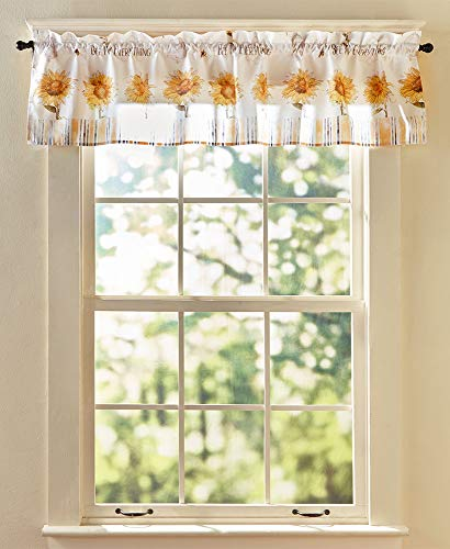 Linda Spivey Sunflower Watercolor Valance Country Cottage Kitchen Bath 58x13