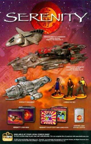 Serenity / Firefly Print Ad: Inara's Shuttle, Reaver Ship, Serenity Ornaments Original Ad!