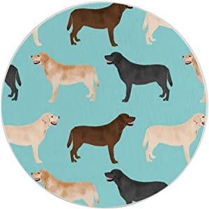 Cute Labradors Yellow Chocolate Black Lab Pet Dogs Drink Coaster for Tabletop Protection Place Mats for Home Decor