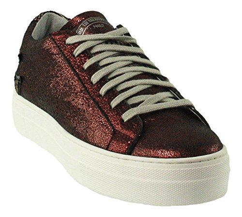 P448 | Maui | Sneaker | Schnürschuh - rot | wic | gold Rot