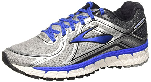 Brooks Men's Running Shoes Adrenaline GTS 16 Silver Blue Black Sneakers (9.5)