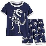 Hsctek Boys Pjs, Short Sleeve Pajamas for Kids,...