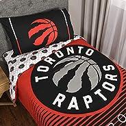 Nemcor NBA Toronto Raptors 4-Piece Twin Bedding Set, Red, Black, Multi (53440-SHE-TWIN-RAPT)