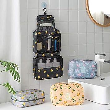 45cm Polyester Trousse de Toilette de Voyage Suspendu,Trousse de Toilette Imperm/éable Grand Sacs Cosm/étique Maquillage Organisateur pour Femmes Filles Flamingo 22