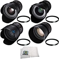 Rokinon 24mm, 35mm, 50mm, 85mm T1.5 Cine DS Lens Kit for Canon EF Mount