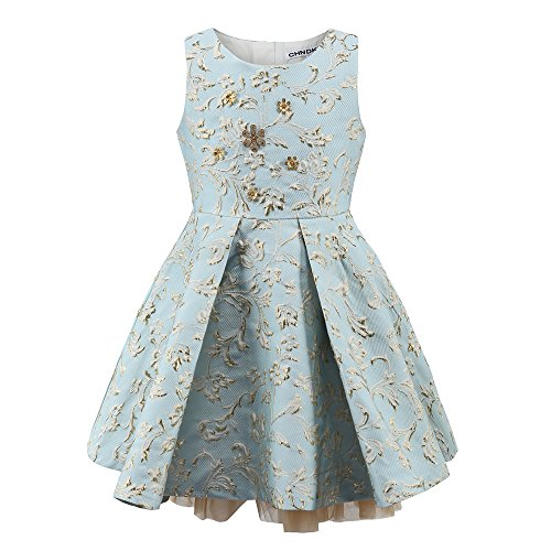 Childdkivy Little Girls Clothes Party Dress Toddler/Kid (3, blue) (Toddler Fancy Dress)