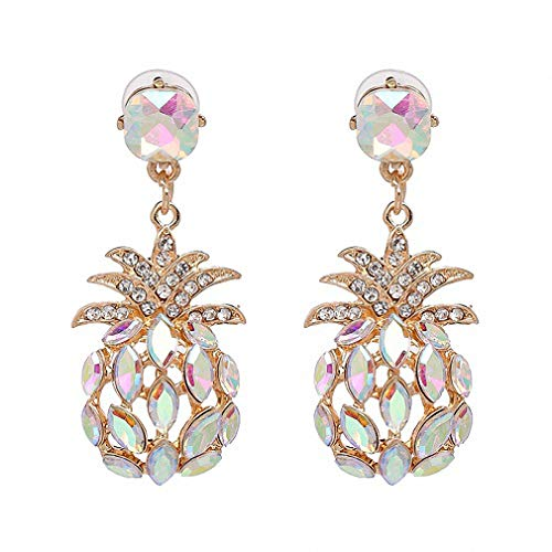 7 Colors Crystal Statement Crystal Pineapple Stud Earrings Women Girl Pineapple Earring Jewelry Ab
