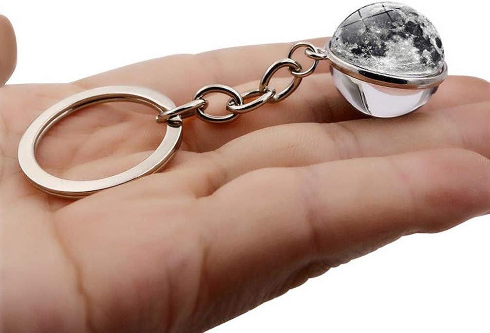 Toyvian 5 Stücke Schlüsselanhänger Planeten Design Schlüsselanhänger Kreative Zeit Edelstein Keychain Schlüsselanhänger Tasche Hängen Anhänger Bekleidung