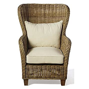 Wickerworks Natural Rattan King Arm Chair