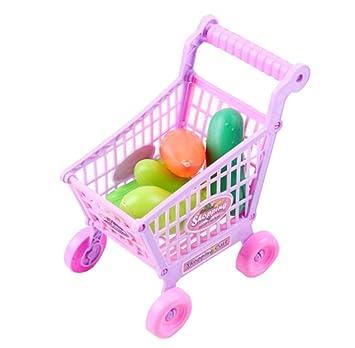 Niños carrito de la niña masculina supermercado carrito de la compra de juguete: Amazon.es: Juguetes y juegos