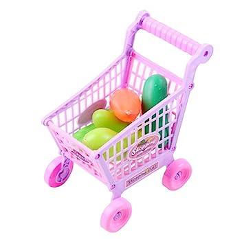 Niños carrito de la niña masculina supermercado carrito de la compra de juguete