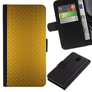 Billetera de Cuero Caso Titular de la tarjeta Carcasa Funda para Samsung Galaxy Note 3 III N9000 N9002 N9005 / Plate Pattern Shiny Reflective / STRONG