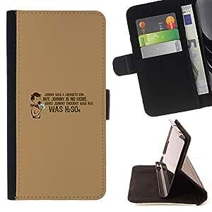 Momo Phone Case / Flip Funda de Cuero Case Cover - Química Cita divertida Lab School H2O - Samsung Galaxy J3 GSM-J300