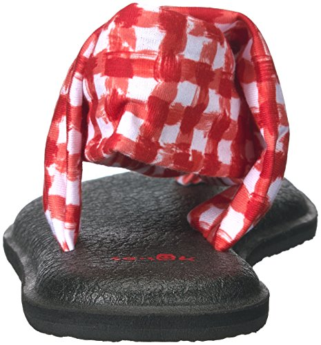Sanuk Yoga Sling#2 Prints, Chanclas Para Mujer Rojo/ Blanco Gingham