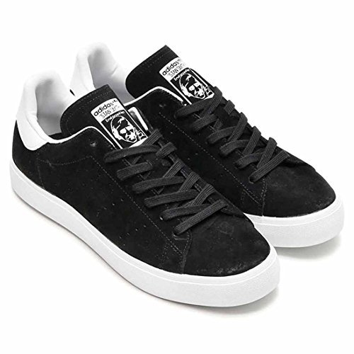 watch 43bcb 21573 adidas Stan Smith Vulc Shoes Trainers Black Suede Men's ...