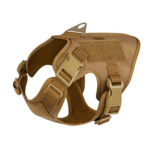 ICEFANG Terrier Tactical Dog Harness,Small K9 Puppy Dog Vest with Velcro,Leash Clip Snap-proof (XS (18