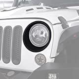 Matte Black Headlight Bezels Headlight Cover Trim for 2007-2018 Jeep Wrangler JK & Wrangler Unlimited