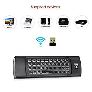 Rii Backlit Fly Mouse 2.4G MX3 Pro Multifunctional Wireless Mini Keyboard And Infrared Remote Learning For KODI, Google Android Smart TV/Box, IPTV, HTPC,Mini PC,Windows,MAC OS,Linux OS,PS3, Xbox 360